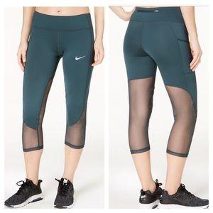Nike green mesh DRI-FIT leggings